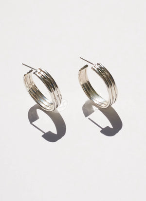 Sun Disc Hoops Earrings