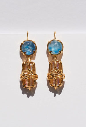 Cosmic Serpent Earrings