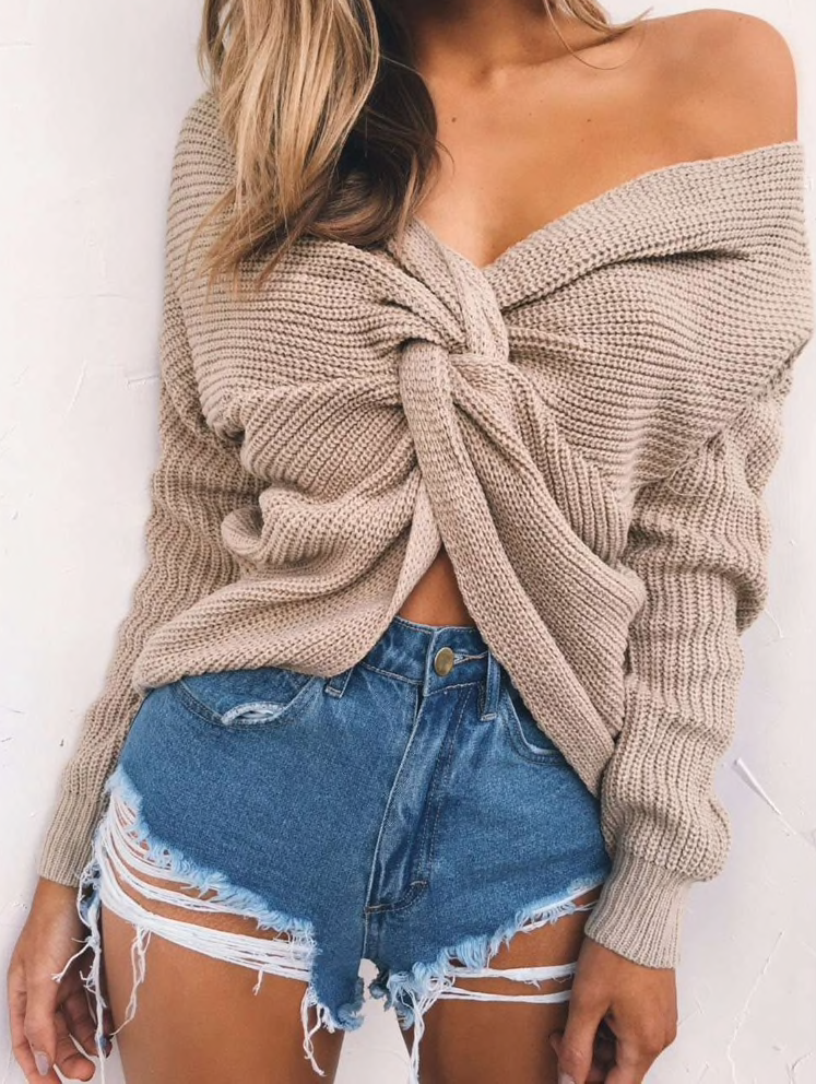 Cleo Wrap Sweater