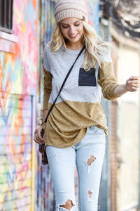 PAXTON COLOR BLOCK SWEATER