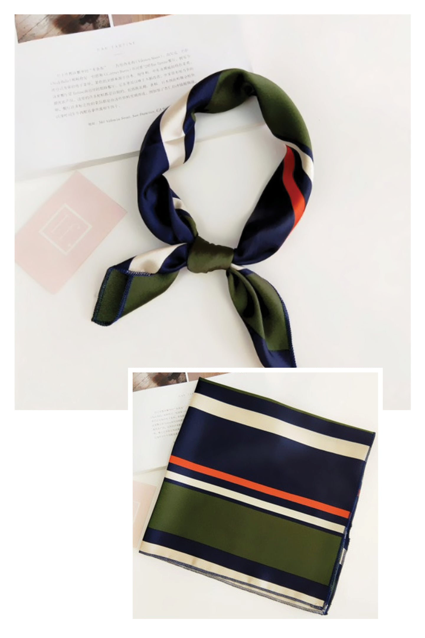 ASCOT GREEN AND NAVY