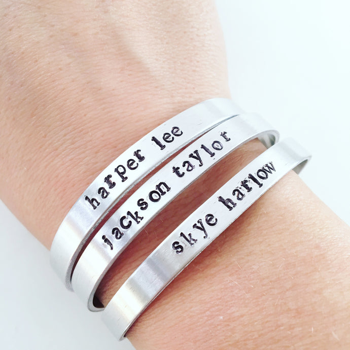PERSONALIZED STACKABLE CUFF BRACELET