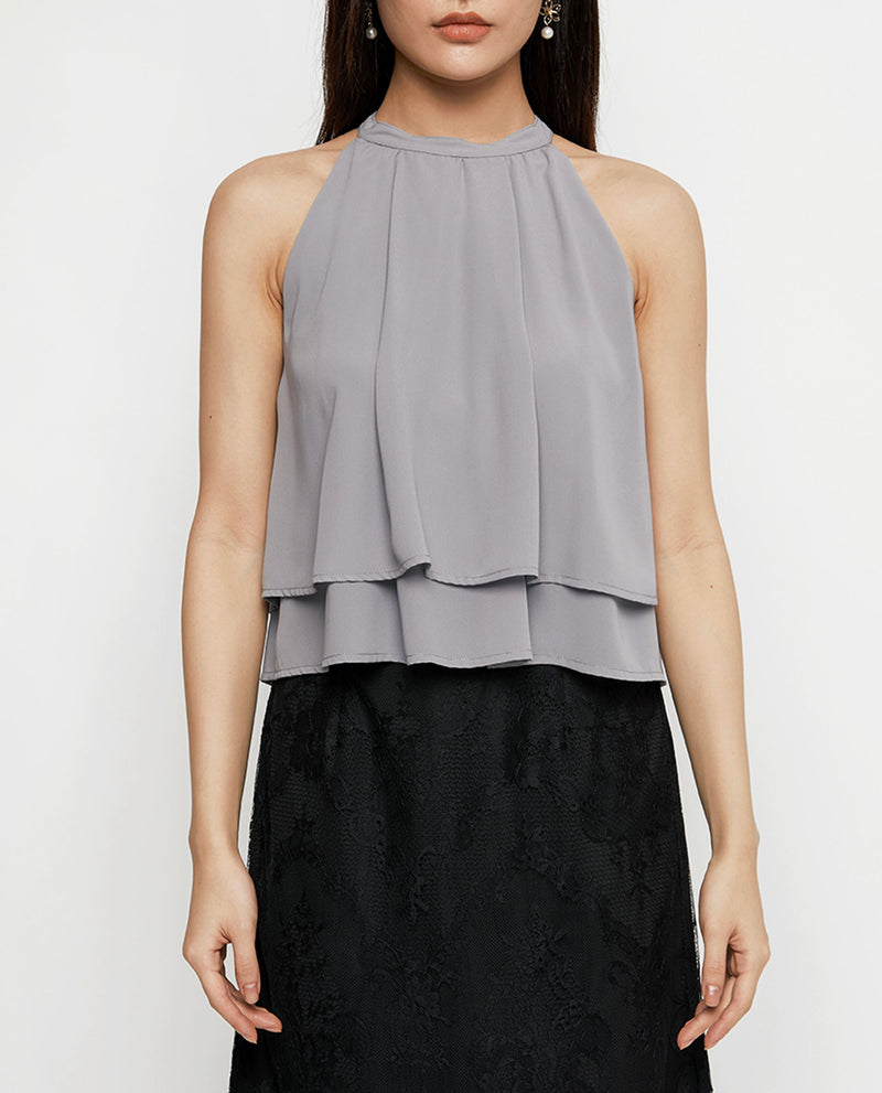 Everly Halter Top Tops OSMOSE-STORES