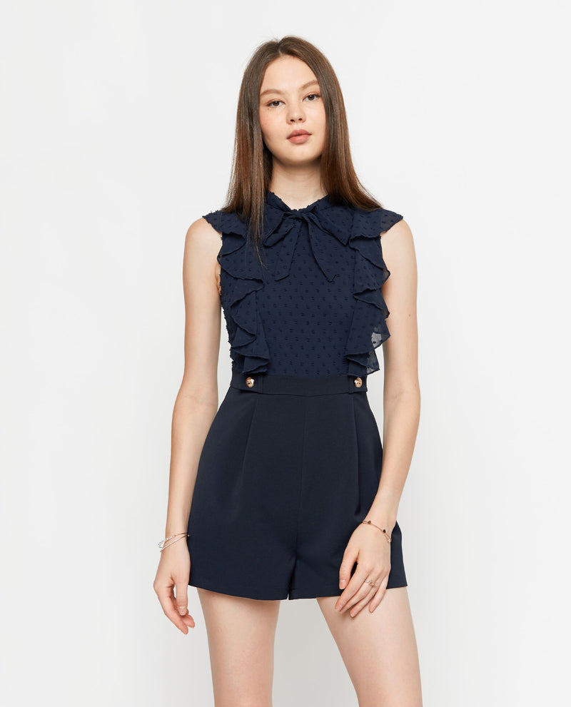 Arly Ruffled Romper Romper OSMOSE-STORES