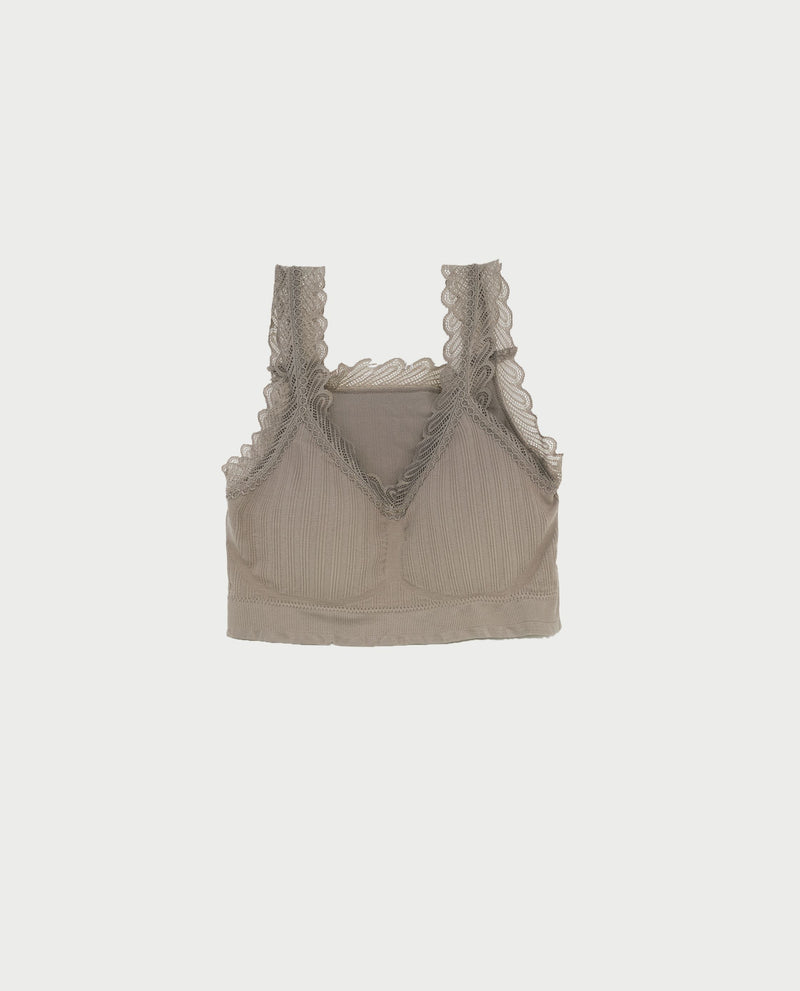 Divana Lace Knit Bra Tops OSMOSE-STORES F Grey