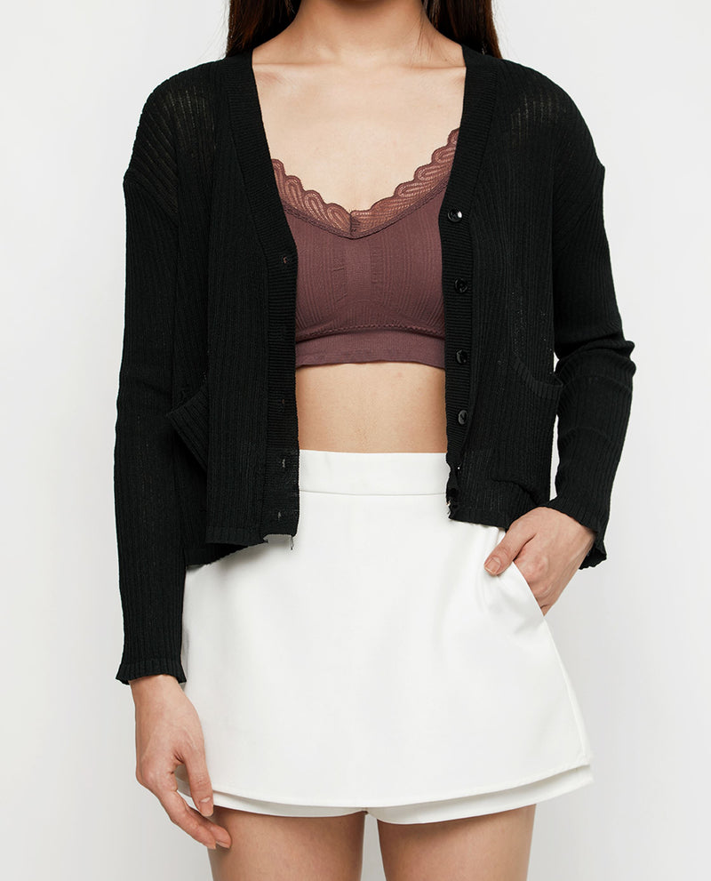 Divana Lace Knit Bra Tops OSMOSE-STORES