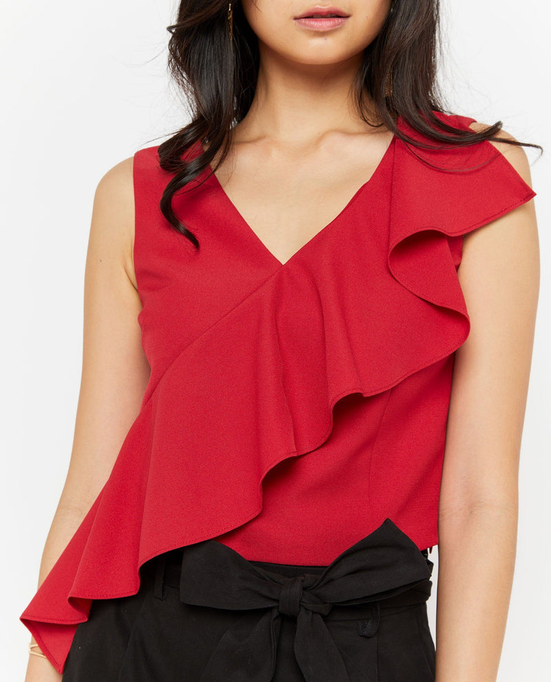Andrea Side Ruffle Top Tops OSMOSE-STORES