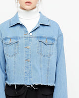 Heda Cropped Denim Jacket Outerwear OSMOSE-STORES