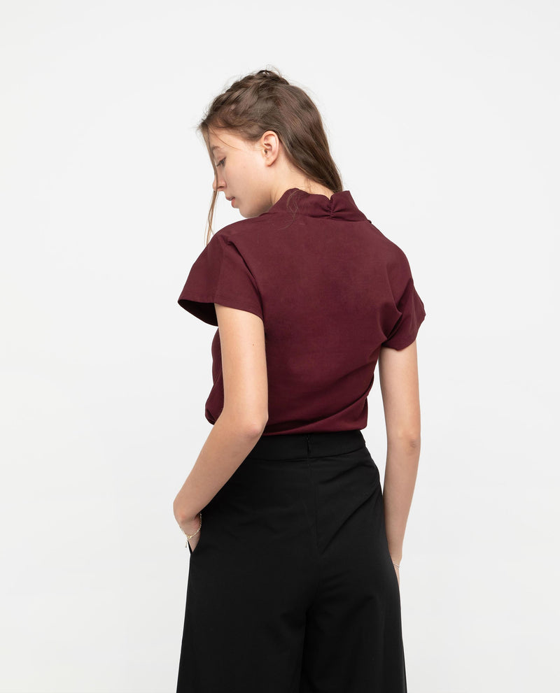 Rivka V Neckline Panel Top Tops OSMOSE-STORES
