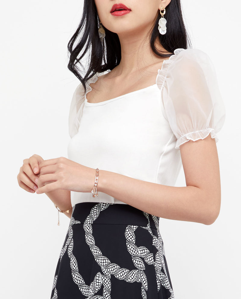 Sacha Mesh Sleeve Top Tops OSMOSE-STORES