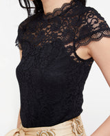 Masha Lace Overlay Top Tops OSMOSE-STORES