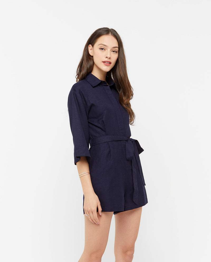 Kaia Shirt Romper Romper OSMOSE-STORES XS Navy