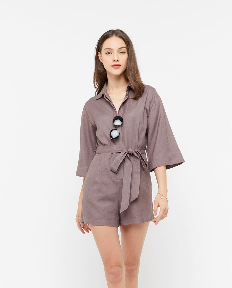 Kaia Shirt Romper Romper OSMOSE-STORES XS Grey