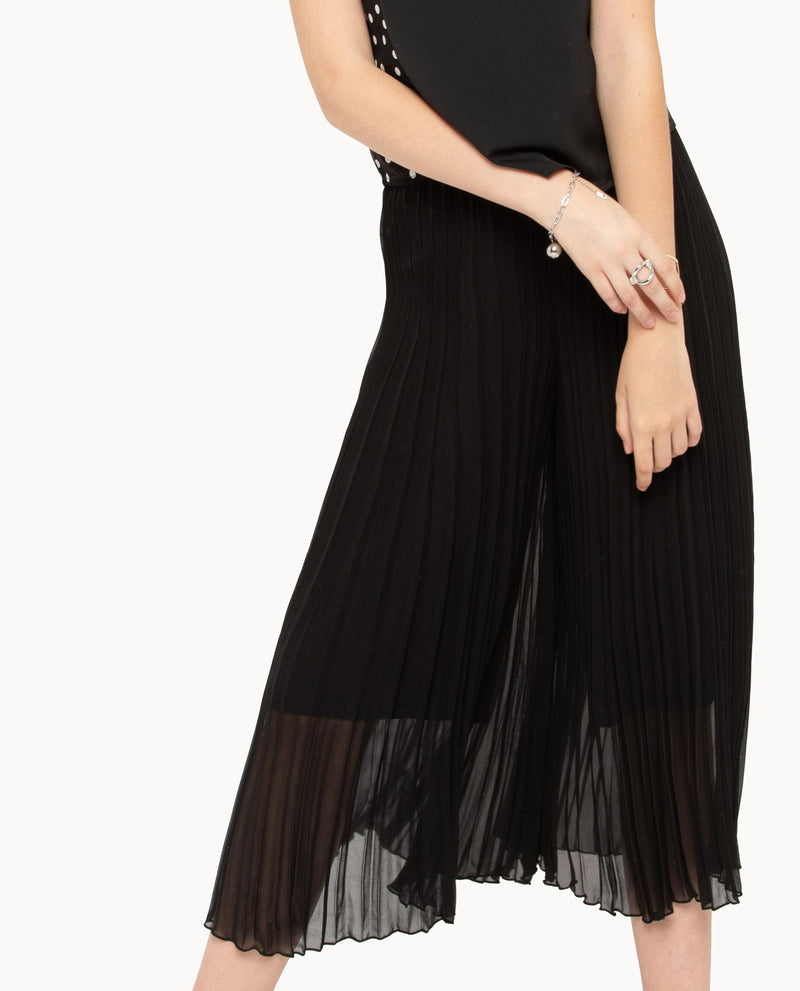 Qiny Pleated Culottes Bottoms OSMOSE-STORES