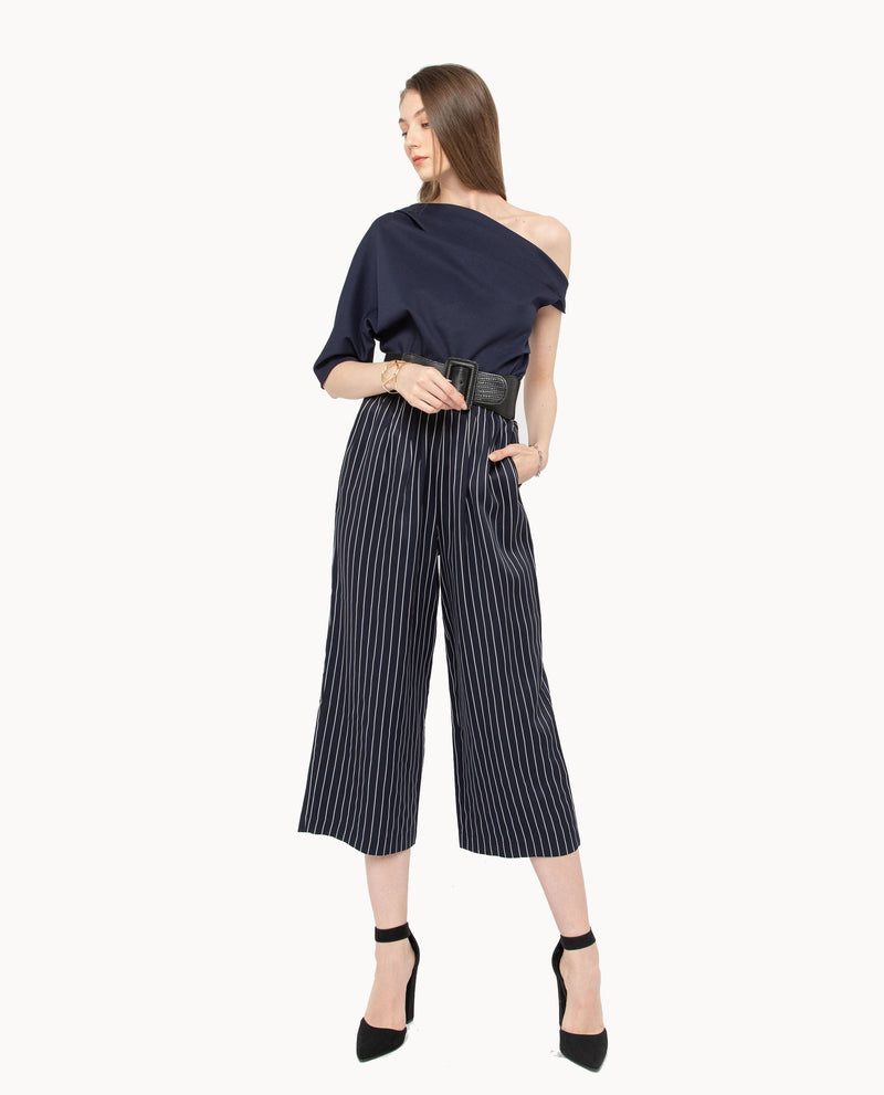 Xerwon Stripe Pants Bottoms OSMOSE-STORES S Blue