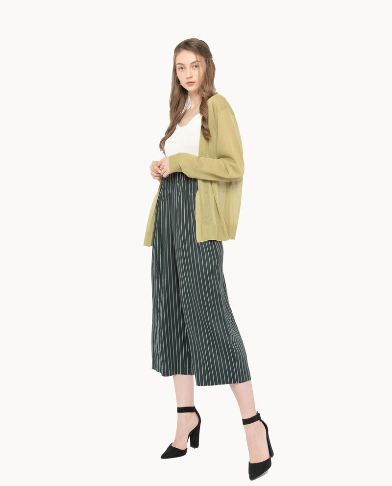 Xerwon Stripe Pants Bottoms OSMOSE-STORES S Green