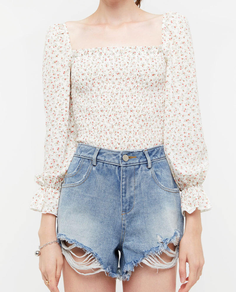 Courey Ripped Denim Shorts Bottoms OSMOSE-STORES