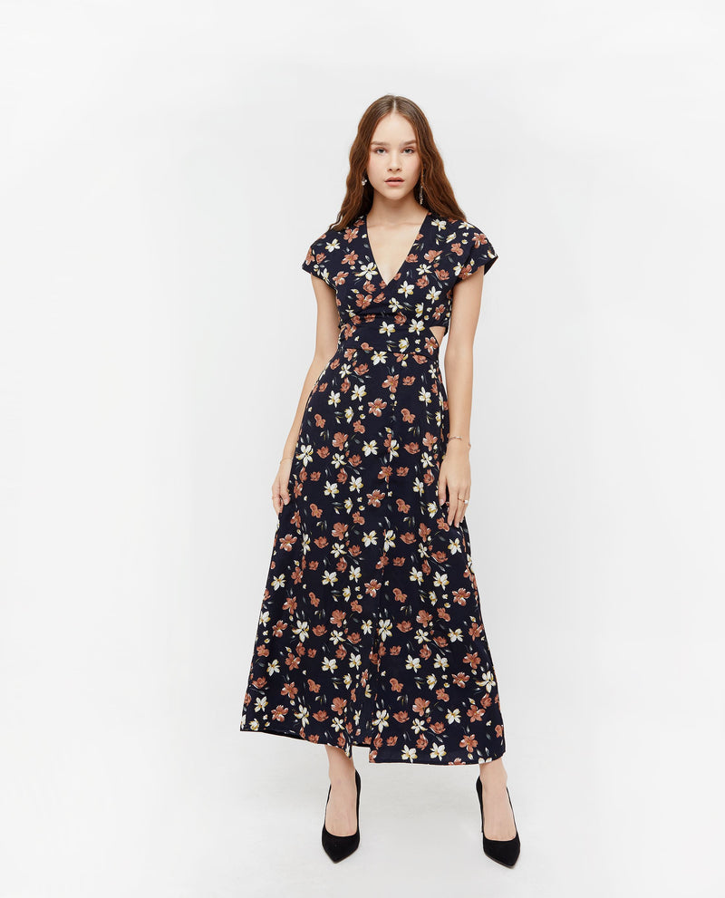 Eleazar Floral Maxi Dress Dresses OSMOSE-STORES