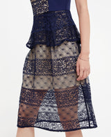 Brynn Lace Overlay Dress Midi Dress OSMOSE-STORES