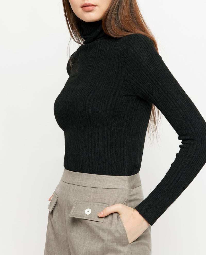 Shela Turtleneck Knit Top Tops OSMOSE-STORES