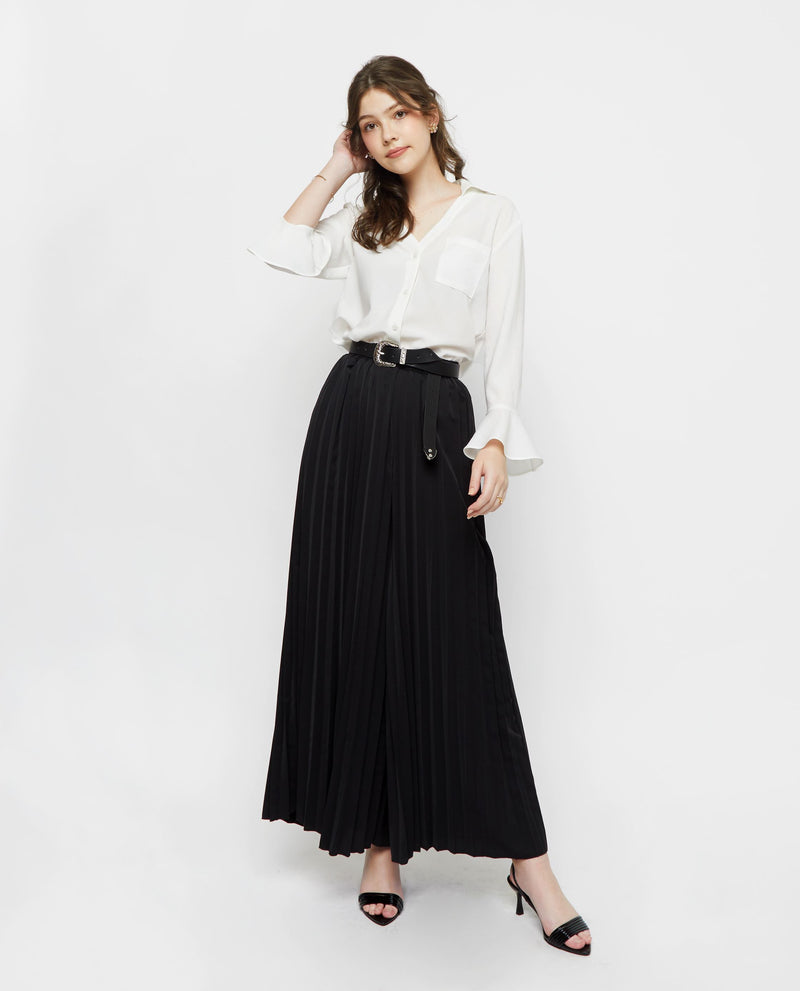 Abella Pleated Long Pants Culottes OSMOSE-STORES