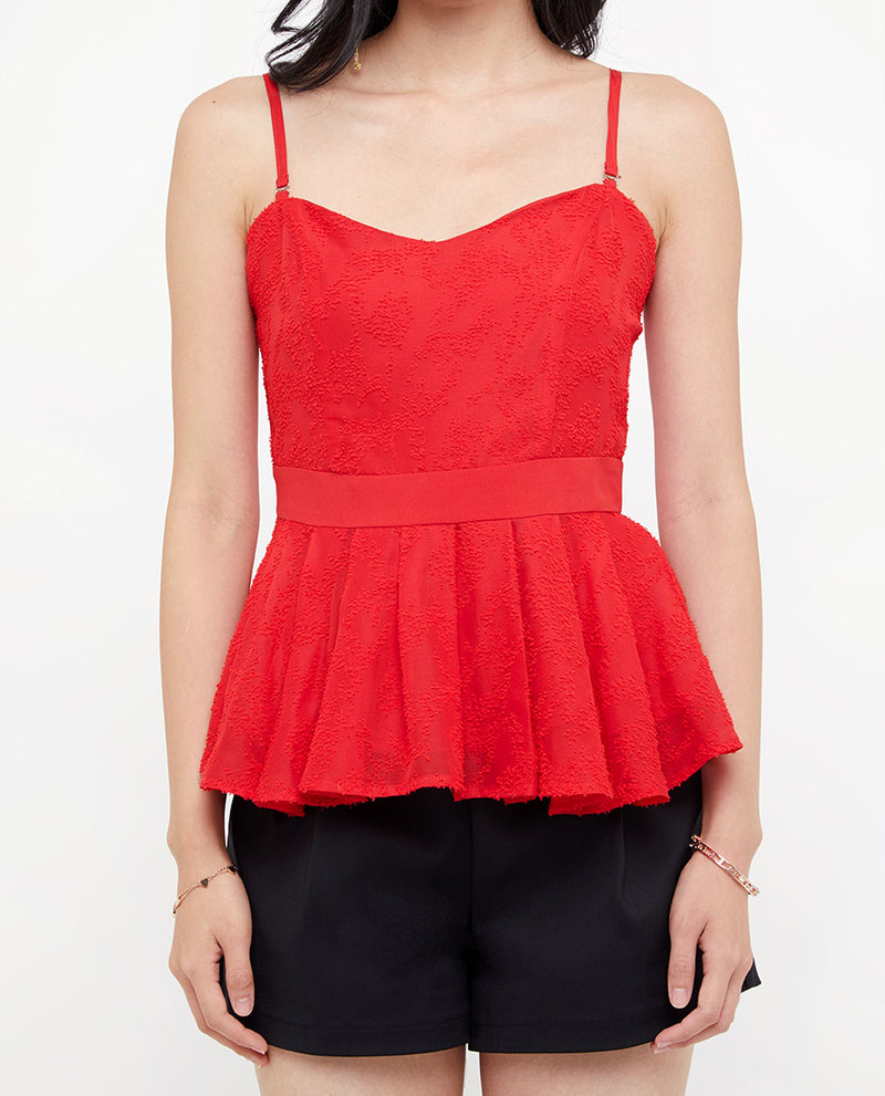 Aenyth Spaghetti Pleated Top Tops OSMOSE-STORES
