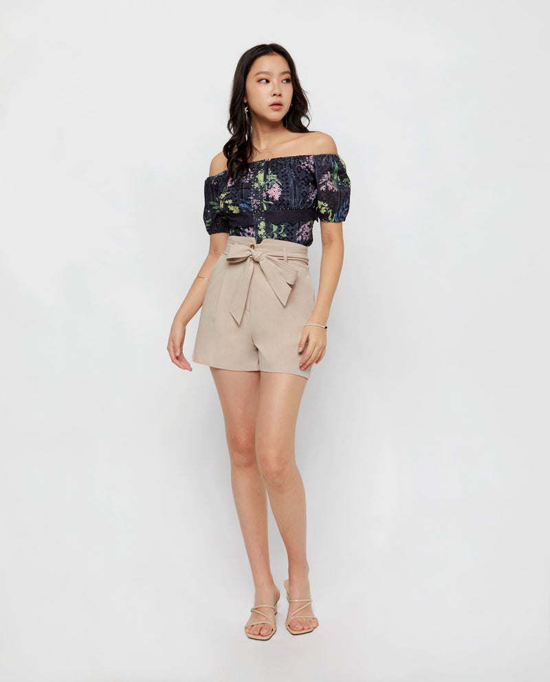 Aiko Floral Offshoulder Top Tops OSMOSE-STORES