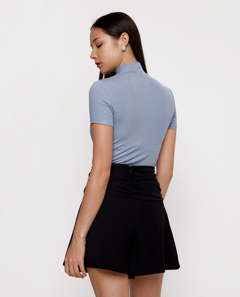 Anaïs High Neck Fitted Top Tops OSMOSE-STORES
