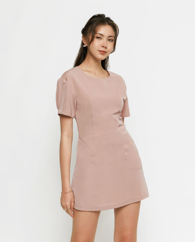 Anessa Basic Shift Dress Short Dress OSMOSE-STORES