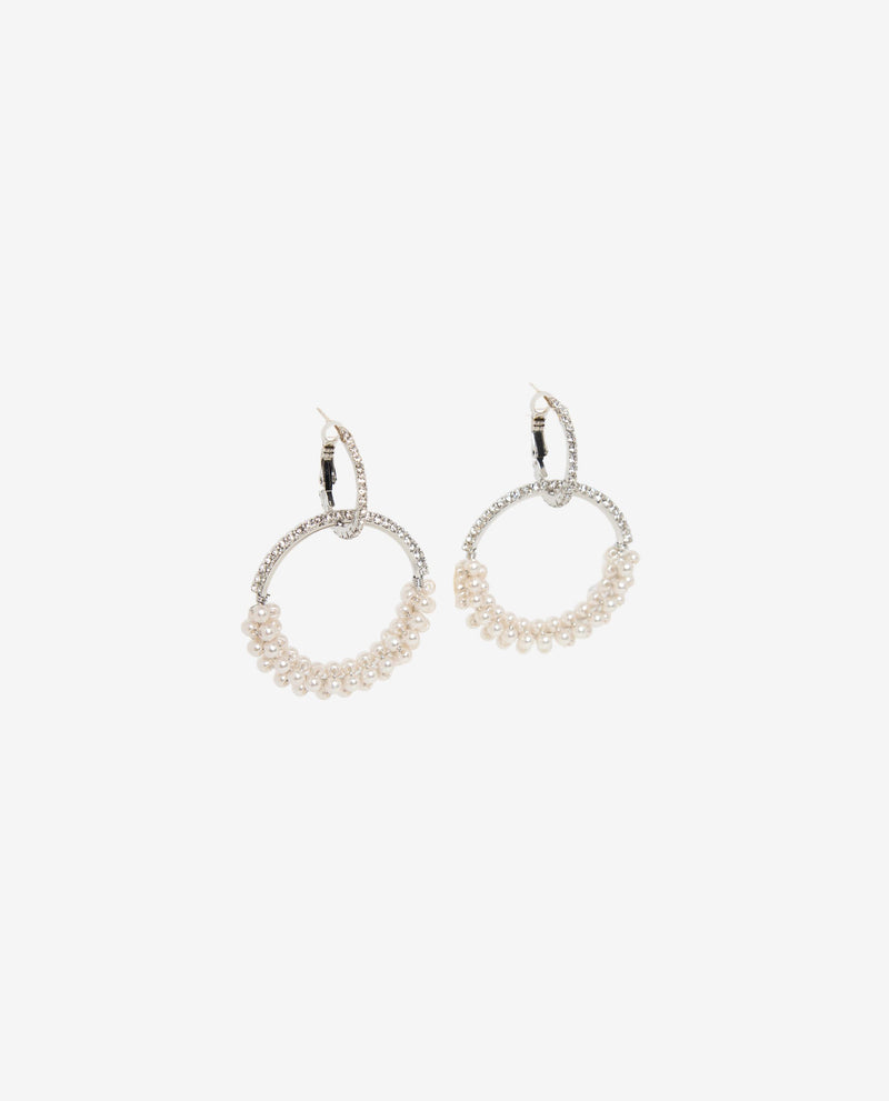Antoinette Pearl Hoop Earrings Earrings OSMOSE-STORES