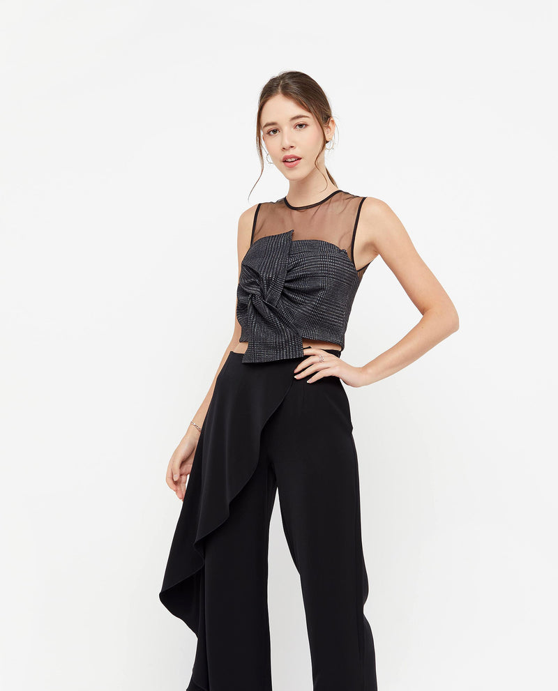 Ari Ribbon Crop Top Tops OSMOSE-STORES