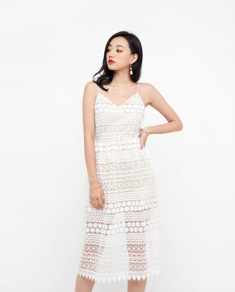 Aubrielle Embroidered Cami Dress Midi Dress OSMOSE-STORES