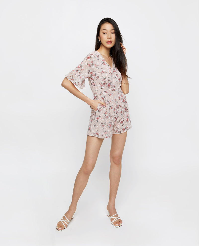 Audre Embroidery Romper Romper OSMOSE-STORES