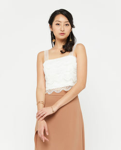 Avery Side Slit Skirt Bottoms OSMOSE-STORES XS Brown