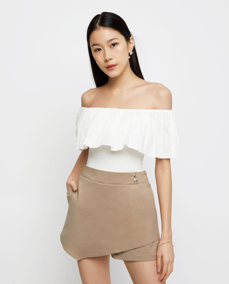 Axel Off Shoulder Top Tops OSMOSE-STORES XS White