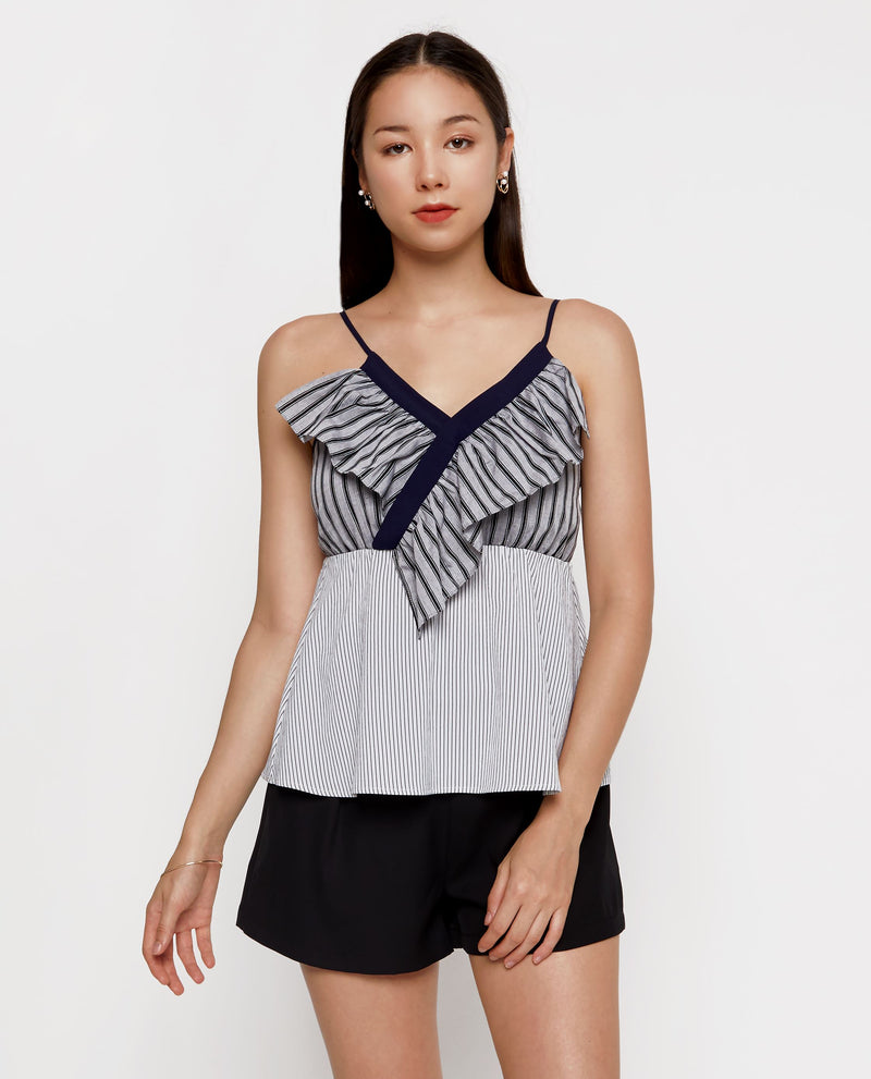 Bea Frill Front Sleeveless Top Tops OSMOSE-STORES