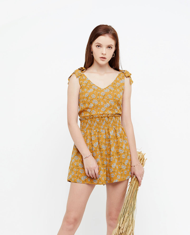 Beva Summer Print Romper One-piece suits OSMOSE-STORES XS Yellow