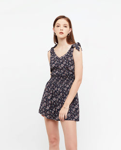 Beva Summer Print Romper One-piece suits OSMOSE-STORES XS Navy