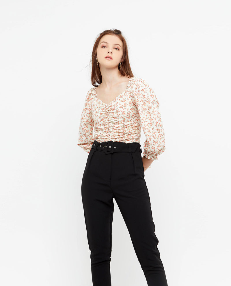 Brenn Belted Tailored Pants Long Pants OSMOSE-STORES