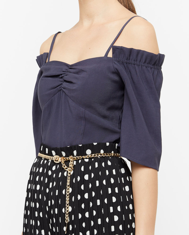 Brooksley Pleated Shoulder Cut Top Tops OSMOSE-STORES