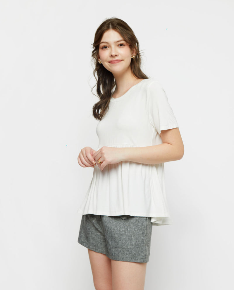 Carrie Jersey Peplum Tee Tops OSMOSE-STORES