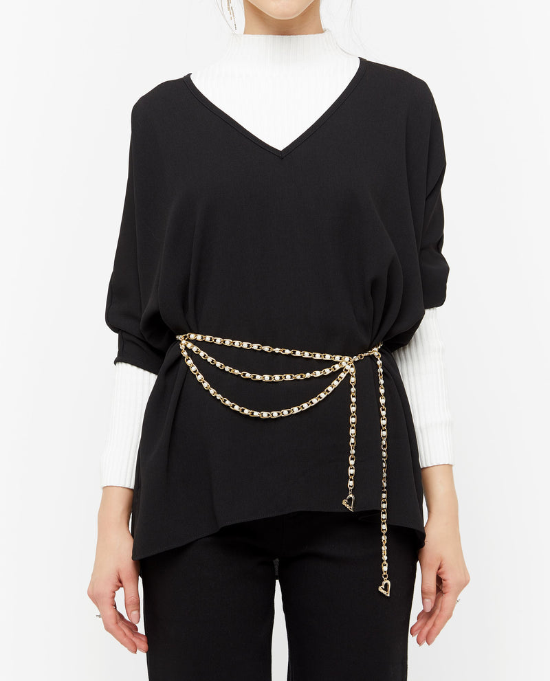 Carrine V Neckline Top Tops OSMOSE-STORES