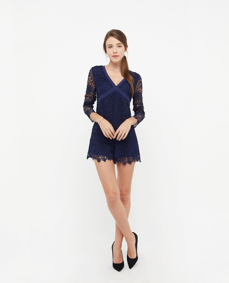 Christabel Lace Layered Romper One-piece suits OSMOSE-STORES