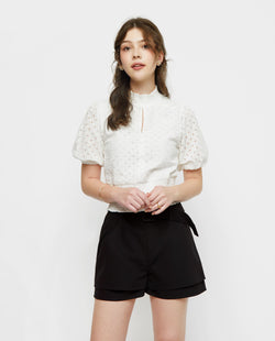 Clarie Keyhole Eyelet Top General OSMOSE-STORES