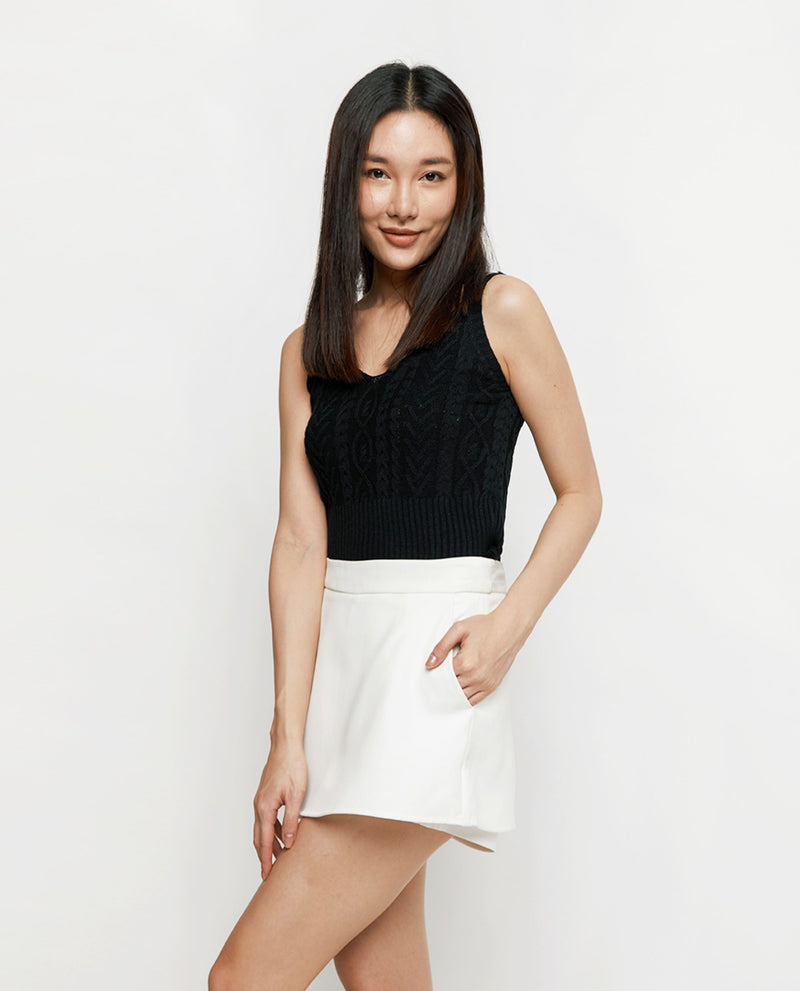 Claris Knit Crop Top Tops OSMOSE-STORES