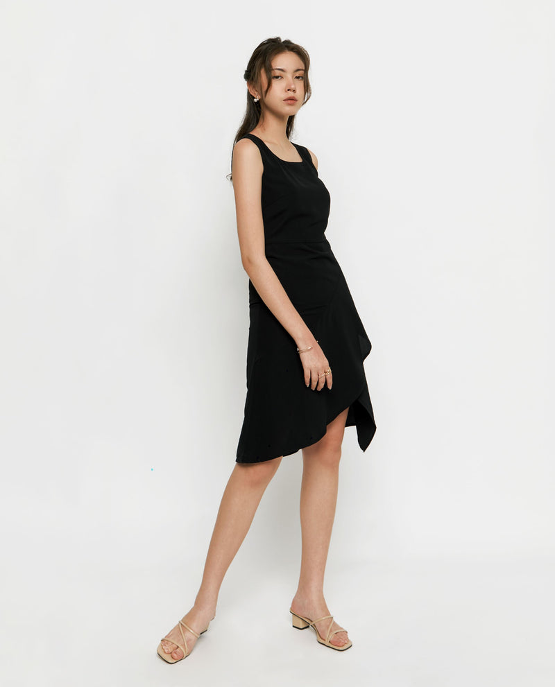 Courtney Asymmetric Dress Midi Dress OSMOSE-STORES