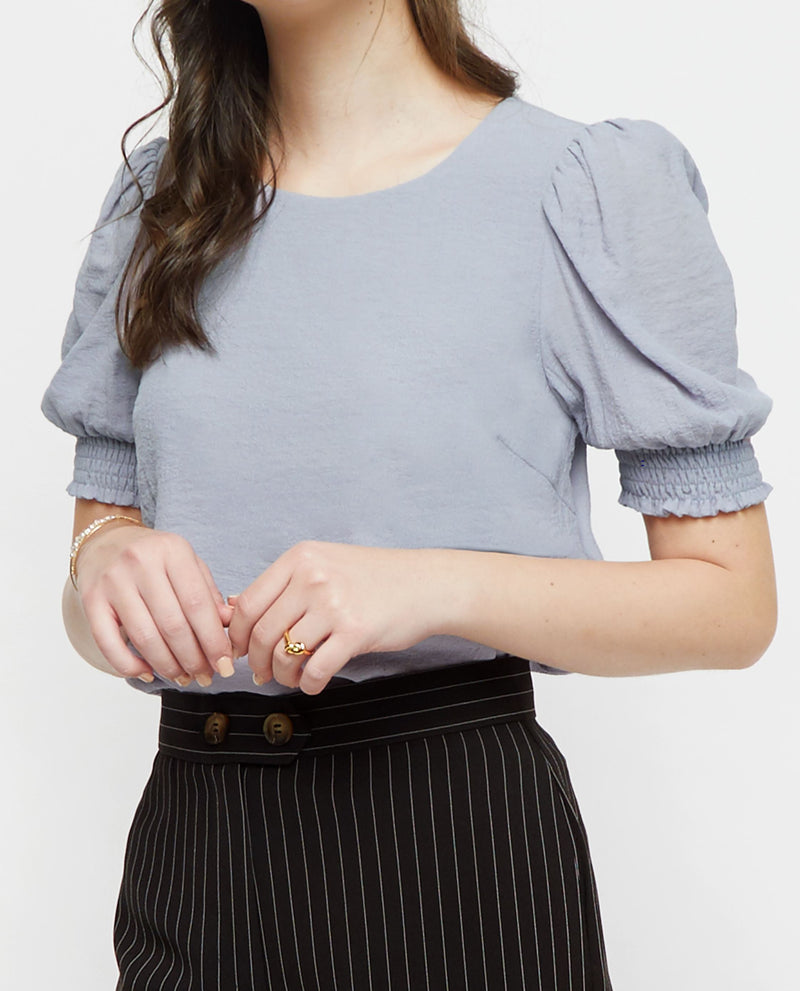 Doris Puff Sleeve Top Tops OSMOSE-STORES