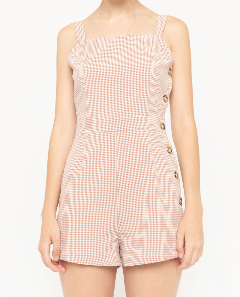 Eamonn Plaid Romper One-piece suits OSMOSE-STORES