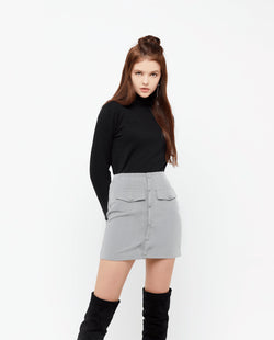 Eliet A Line Skirt Bottoms OSMOSE-STORES XS Grey