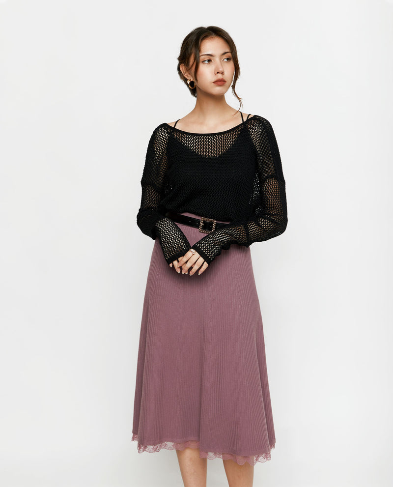 Elisa A-line Knit Skirt Tops OSMOSE-STORES